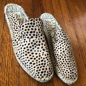 Dolce vita leopard print backless espadrilles